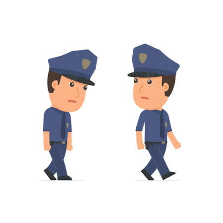 hopelessness: Sad and Frustrated Character Officer goes and drags. for use in presentations, etc.
