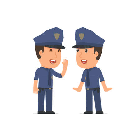 telling: Cunning  Character Officer gossiping and telling secret to his friend. Poses for interaction with other characters from this series