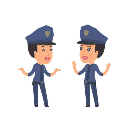 constabulary: Funny Character Constabulary tells interesting story to his friend. Poses for interaction with other characters from this series