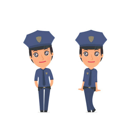 affectionate: Cute and Affectionate Character Constabulary in shy and awkward poses. for use in presentations, etc.