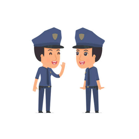 constabulary: Cunning  Character Constabulary gossiping and telling secret to his friend. Poses for interaction with other characters from this series