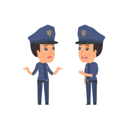 can not: Frustrated Character Constabulary can not help to solve the problem. Poses for interaction with other characters from this series Illustration