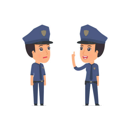 advisor: Intelligent Character Constabulary learns and gives advice to his friend. Poses for interaction with other characters from this series
