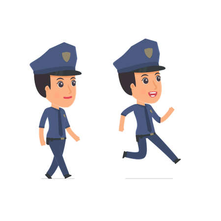 constabulary: Funny and Cheerful Character Constabulary goes and runs. for use in presentations, etc.