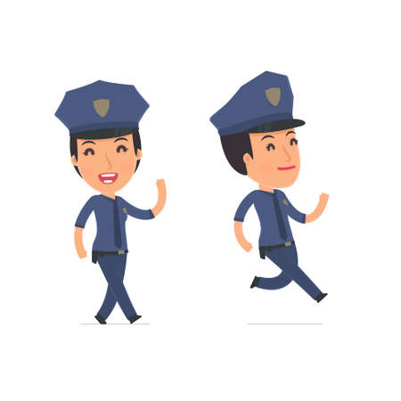 constabulary: Happy and Cheerful Character Constabulary goes and runs. for use in presentations, etc. Illustration