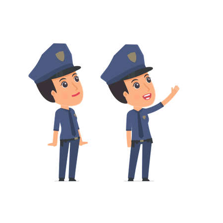 constabulary: Active Character Constabulary making presentation of new services to the customer. Poses for interaction with other characters from this series