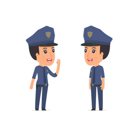 constabulary: Calm Character Constabulary tells news to his friend. Poses for interaction with other characters from this series Illustration