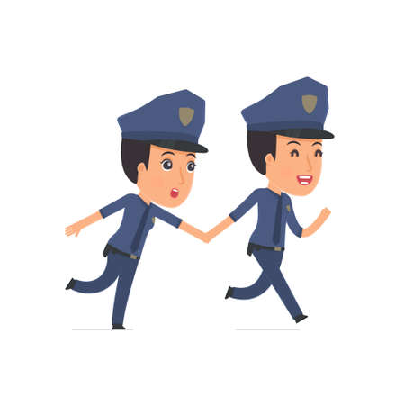 constabulary: Happy and Joyful Character Constabulary runs and drags his friend to show him something. Poses for interaction with other characters from this series