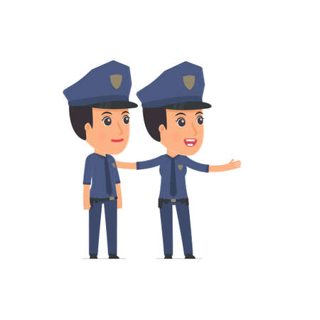 constabulary: Active Character Constabulary making presentation of his product to the customer. Poses for interaction with other characters from this series