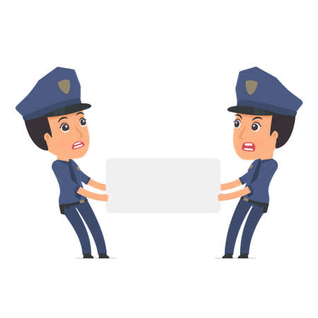 interacts: Funny Character Constabulary holds and interacts with blank forms or objects. Poses for interaction with other characters from this series