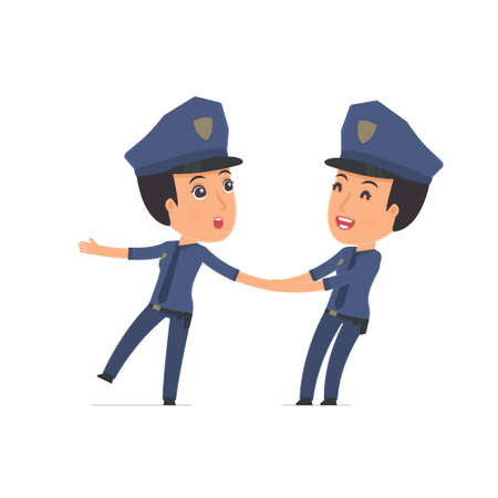constabulary: Funny and Cheerful Character Constabulary drags his friend to show him something. Poses for interaction with other characters from this series Illustration