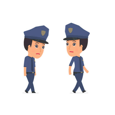 Sad and Frustrated Character Constabulary goes and drags. for use in presentations, etc. Illustration