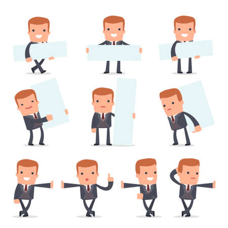 leaned: Set of Smart and Funny Character Rich man leaned against the wall and shares information for using in presentations, etc.