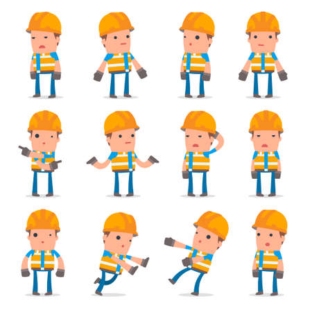 Set of Confused and Sad Character Constructor in ignorance poses for using in presentations, etc.