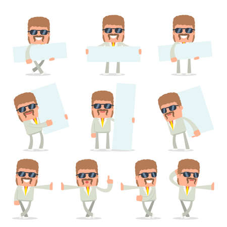 resell: Set of Smart and Funny Character Impudent Reseller leaned against the wall and shares information for using in presentations, etc. Illustration