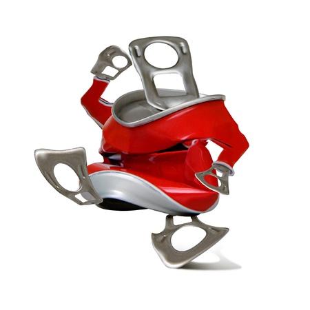 metallschrott: Kann für das Recycling zu Fuß, isoliert. Object.