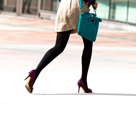 Hurrying business woman  The modern woman  Stock Photo