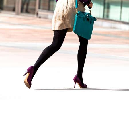 hurrying:  Hurrying business woman  The modern woman  Stock Photo