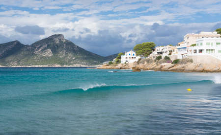 Wave of turquoise water in Sant Elm, Majorca, in October Stock Photo - 24401726
