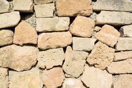 drystone: Drystone wall closeup; Mallorca, Balearic islands, Spain