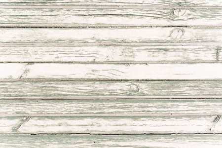White washed painted wood plank background texture, horizontal image  写真素材