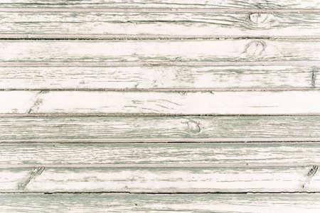 White washed painted wood plank background texture, horizontal image  photo