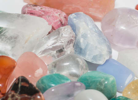 semiprecious: Semi-precious gemstones full frame