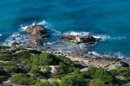 sa: Green coast Majorca, Sa Torre, Mallorca, Balearic islands, Spain.