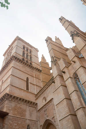 Gothic Cathedral detail. La Seu, Palma de Mallorca, Balearic islands, Spain. photo