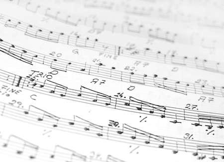 musicality: Fisarmonica Spartiti, astratto primo piano sfondo in bianco e nero.