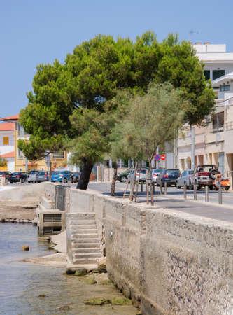 Cala Gamba trap naar het water, Mallorca, Balearen, Spanje.