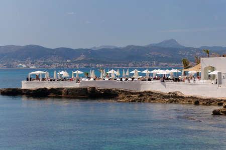CALA ESTANCIA, PALMA DE MALLORCA, ISOLE BALEARI, SPAGNA IL 21 LUGLIO 2012: Puro Beach a Cala Estancia il 21 luglio 2012