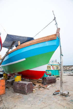 southern sri lanka: TANGALLE, SOUTHERN PROVINCE, SRI LANKA, ASIA - DECEMBER 20, 2014: Colorful wood fishing boats moored on December 20, 2014 in Tangalle port, Southern Province, Sri Lanka.