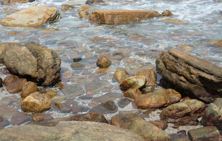 rocky point: Paesaggio roccioso a Rocky Point, Tangalle, Southern Province, Sri Lanka, Asia.