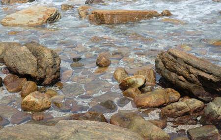 rocky point: Rocky landscape at Rocky Point, Tangalle, Southern Province, Sri Lanka, Asia.