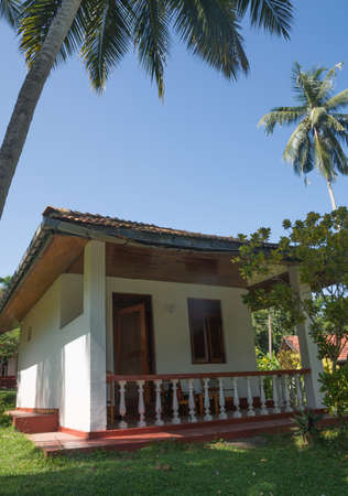rocky point: Small bungalow at Rocky Point Beach Bungalows in Tangalle, Southern Province, Sri Lanka. Editorial