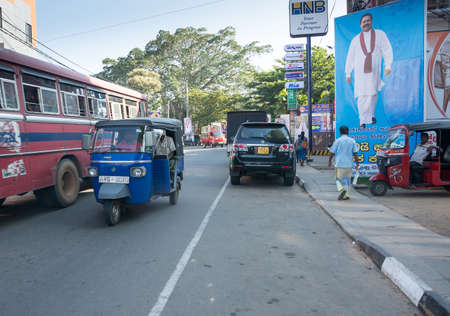 southern sri lanka: TANGALLE, SOUTHERN PROVINCE, SRI LANKA - DECEMBER 15, 2014: Street view in Tangalle on December 15 2014 in Tangalle, Southern Province, Sri Lanka, Asia.