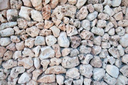 drystone: Drystone wall closeup with powdery limestone rocks