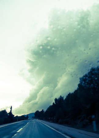 torrential: Dramatic cloud bringing torrential rains in Majorca in November.