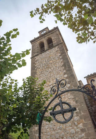 crist: Tower of the Sant Crist chapel from the 18th century in S?Arraco, Majorca.