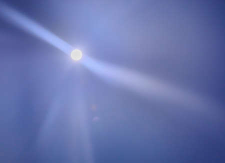 moonwalk: Shining romantic moon and beams as background. Stock Photo