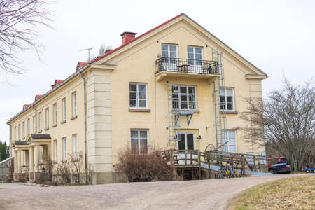 retreat: ANGSBACKA, VARMLAND, SWEDEN - MARCH 22, 2015: Main building by retreat center Angsbacka on March 22, 2015 in Molkom, Sweden.