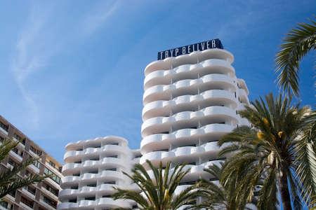 paseo: PALMA DE MALLORCA, SPAIN - APRIL 19, 2015: Tryp hotel on the Paseo Maritimo on April 19, 2015 in Palma de Mallorca, Balearic islands, Spain.
