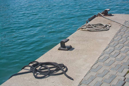 knobs: Mooring knobs and water maritime , Mallorca, Balearic islands, Spain.
