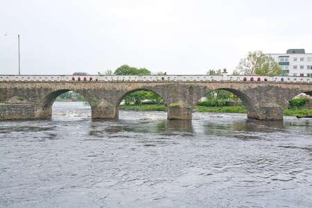 toll: FALKENBERG, SWEDEN - JUNE 6, 2015: Old stone toll bridge on June 6, 2015 in Falkenberg, Sweden.
