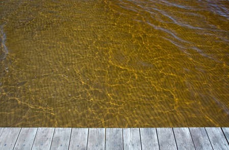 sediments: Yellow ocean water discolored by clean sediments from the Atran river nearby.