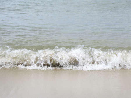 bubbly: Bubbly wave on sandy beach in Mallorca, Balearic islands, Spain in August.