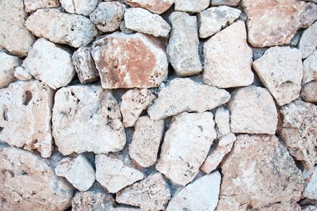 drystone: Drystone wall with some cigarette stubs in Mallorca, Balearic islands, Spain. Stock Photo