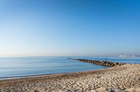 spanish landscapes: PALMA DE MALLORCA, BALEARIC ISLANDS, SPAIN - DECEMBER 22, 2015: Landscape with sandy beach on December 22, 2015 in Palma de Mallorca, Balearic islands, Spain Editorial