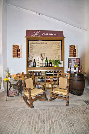 nadal: BINISSALEM, MALLORCA, BALEARIC ISLANDS, SPAIN - MAY 19, 2016: Interior details of Vins Nadal winery in Binissalem, Mallorca, Balearic islands, Spain on May 19, 2016.